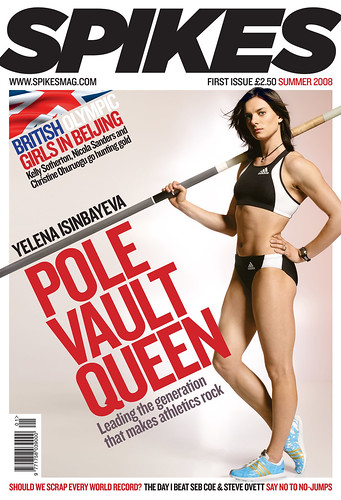 Yelena ISINBAYEVA portada de revista