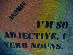 I'm so adjective, I verb nouns.