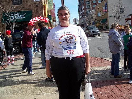 Me at the finish line after picking up my goodie bag