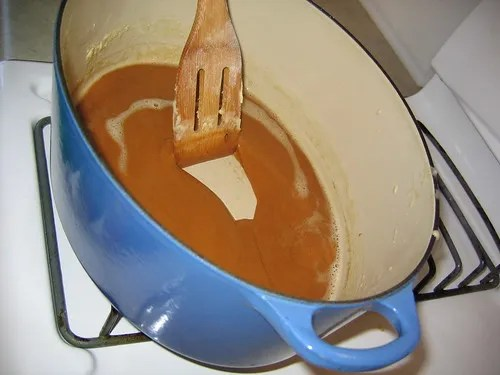 The perfect pot for browning a roux