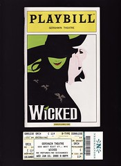 Wicked Playbill and stub