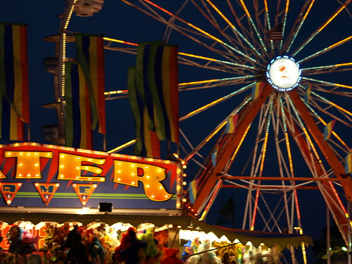Ferris Wheel and Arcades