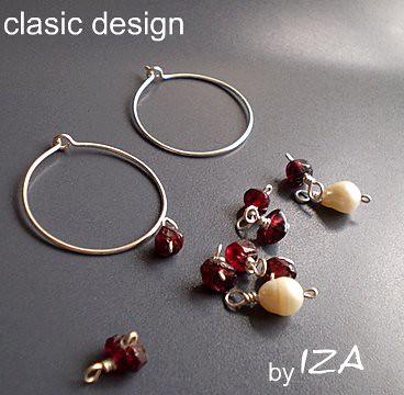 cercei perle si pietre semipretioase,bijuterii cu perle by you.