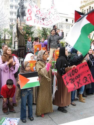 Protesta Cadena Humana Apoyo Palestina Córdoba Plaza Tendillas
