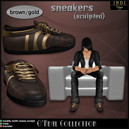 O'Neal sneakers brown/gold