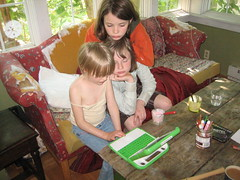 Children Using the OLPC XO image copyright (C) Henry Edward Hardy 2008, 2009