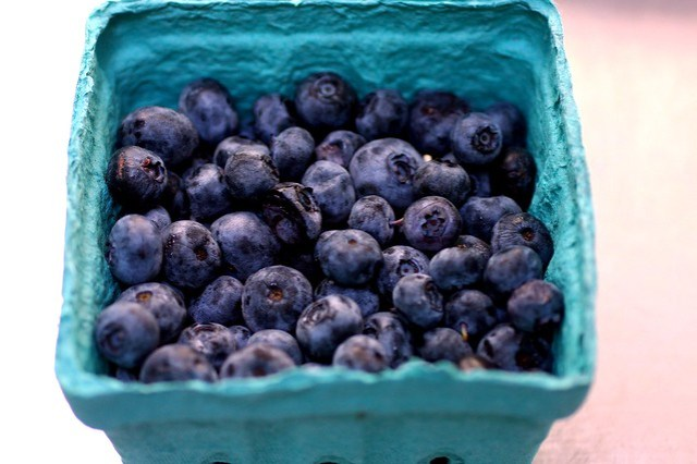 blueberries, peak season