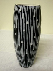 Blackware vase inscribed to base Gunda 18