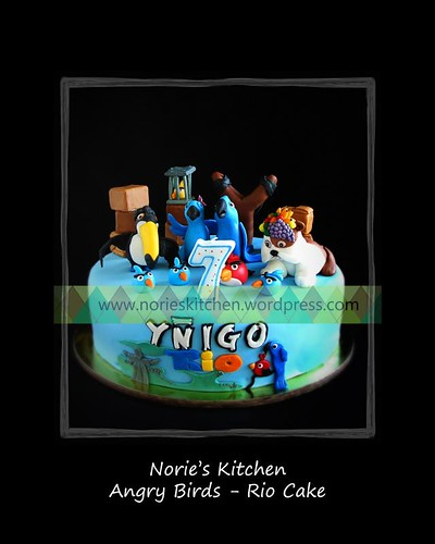 Norie's Kitchen - Angry Birds Cake  - Rio