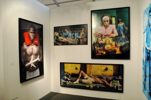 Marcos López at Columbian/Spanish Galeria Fernando Pradilla