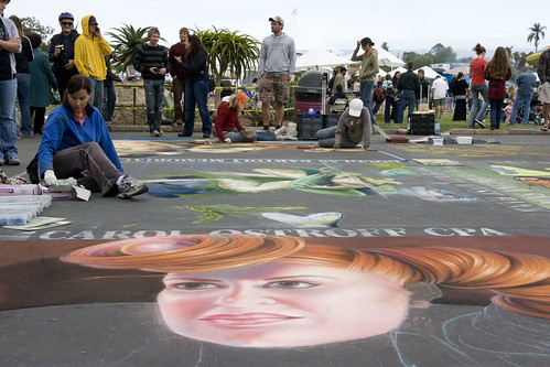 Sidewalk art at the Il Madonnari Festival