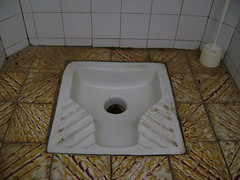 African-style toilet