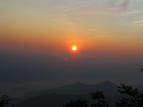 Sunrise at Rocky Bald by you.