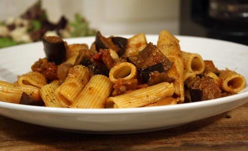 Rigatoni with Eggplant Capanota