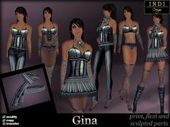 Gina green/blue