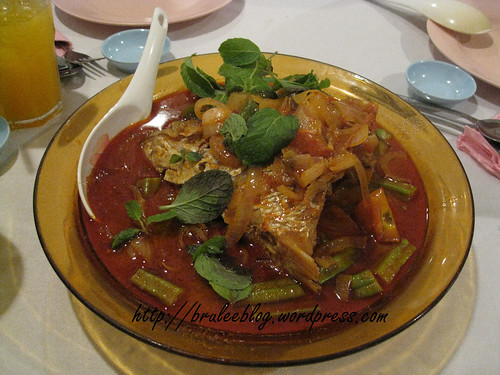 curry fish head with okra