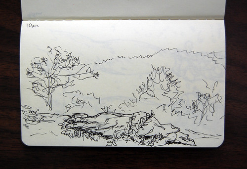 drawing on Cowrock Mountain