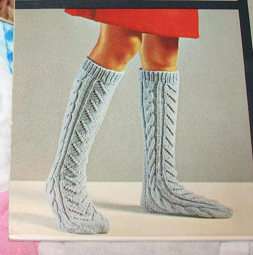 heel less aran socks