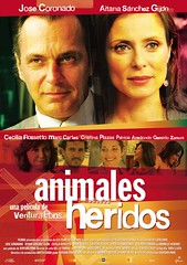Animales heridos cartel película