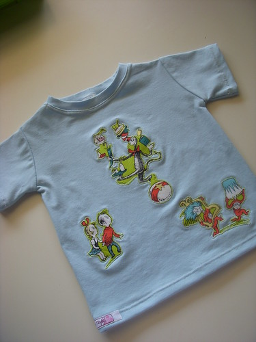 Erin's T-shirt with Dr. Seuss Applique