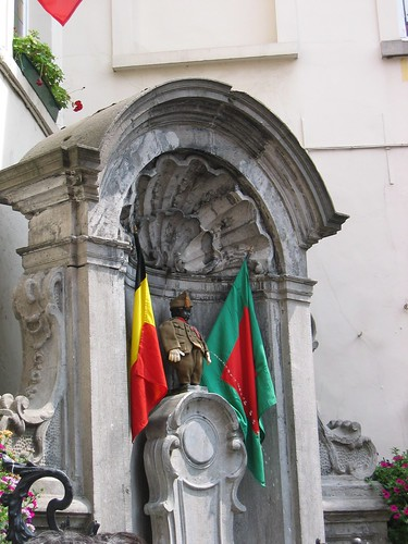 Manneken Pis on the National Day