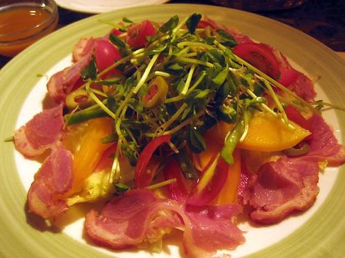 smoke duck salad