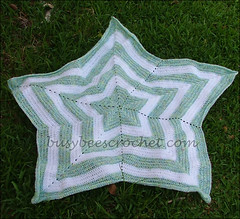 Green and White Star Blanket