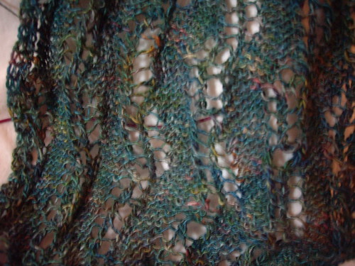 Lace Ribbon Scarf in Art Fibers Tantra