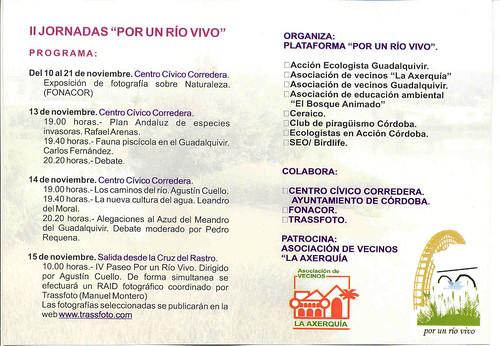 Programa Jornadas por un Rio Vivo en Córdoba.