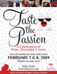 Taste the Passion wine trail event - February 7-8, 2009