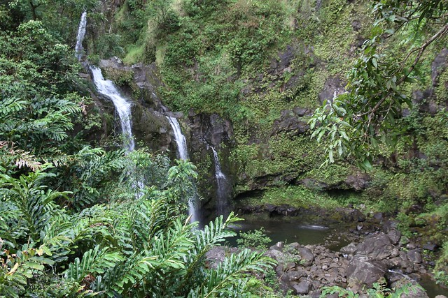 Three Bears Waterfall - Maui