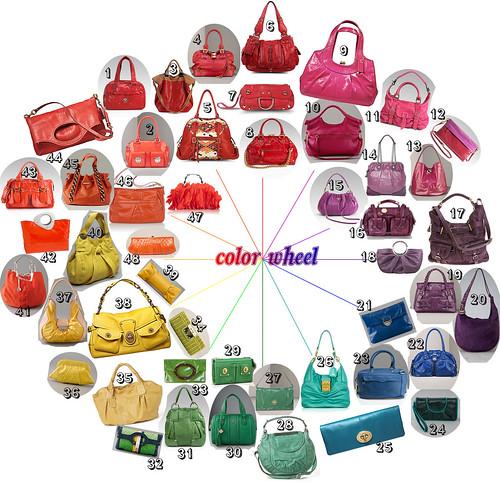 hand bag color wheel