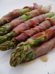 Asparagus Roasted in Parma Ham