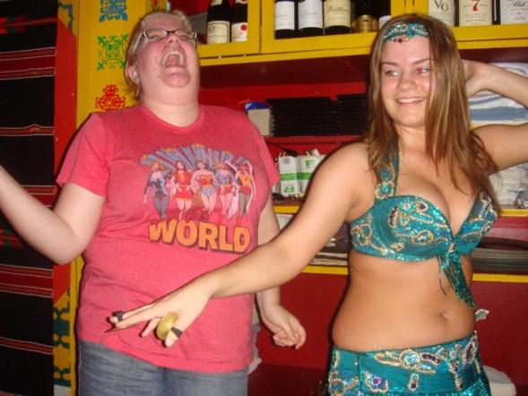 Hannah and the bellydancer