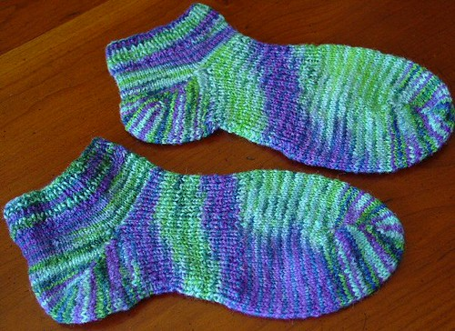 Finished Flat Feet Socks