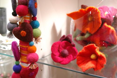 TEMOA - Broches coeur ou fleurs, chou-chou fleurs 100% feutre de laine, 100% faits main, Lamali