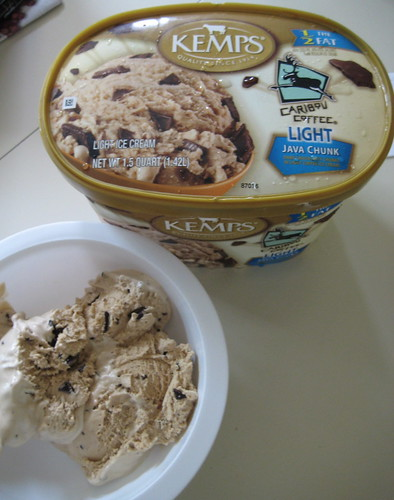 Kemps' Caribou Coffee Light Java Chunk Ice cream