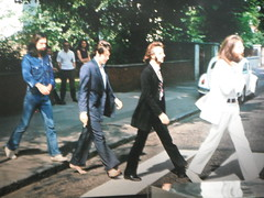 Photo of the Beatles crossing Abbey Road just ...