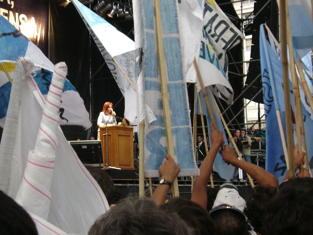 Cristina Fernandez de Kirchner Acto Plaza de Mayo Campo 2008