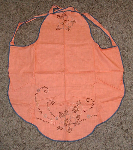 embroidered apron embroidery