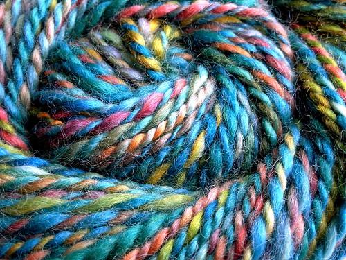 Catalina Macaw hand-dyed handspun