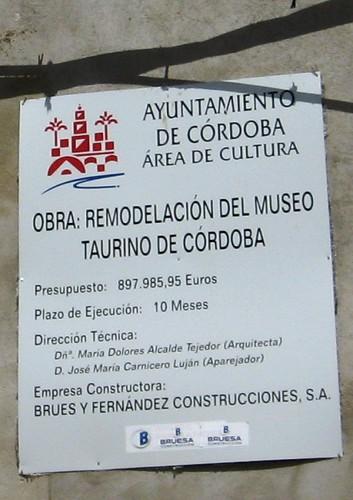 Remodelación Museo Taurino Córdoba