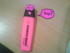 Pink Highlighter Guy