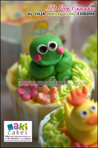 3D Frog Cupcakes - Maki Cakes