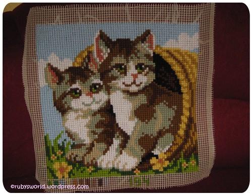 Kissen mit Katzen