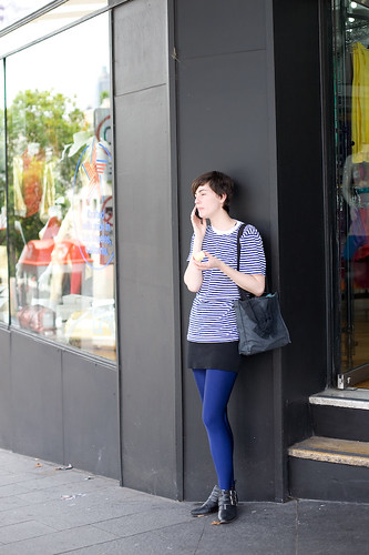 Blue tights - Oxford St