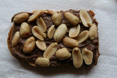 Peanut and Nutella on Toast