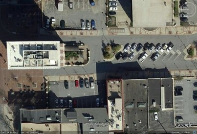 Court Street in Google Earth
