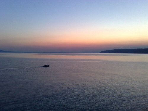 Fishing Boat at Dusk, Mt. Athos