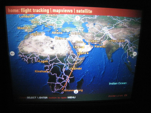 Flying south over Ethiopia